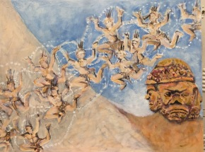 Dance of the Wat. Oil painting by Lesley A. Powell 18 x 24 $1080