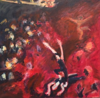 Red Dance Oil by Lesley A. Powell $1000