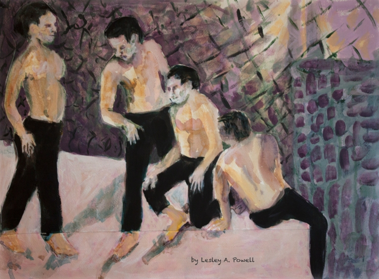 Four Men on Pink Floor.jpg