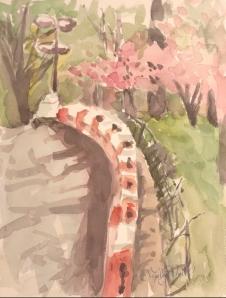 Orange Barrier in Spring