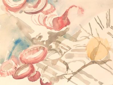Rings amongst Lines - Watercolor